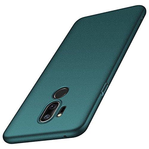 anccer Cover LG G7 ThinQ, Cover LG G7 [Serie Colorato] di Gomma Rigida Protezione da Cadute e Urti LG G7 ThinQ/LG G7 (Ghiaia Verde)
