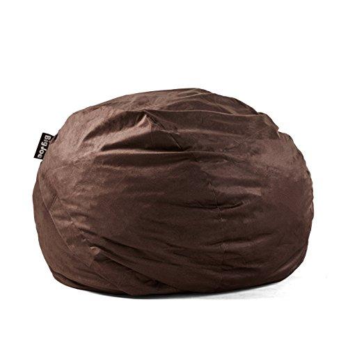 Big Joe Lenox Fuf Foam Filled Bean Bag, King, Black