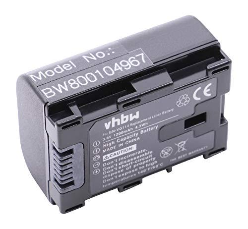 vhbw Li-Ion Akku 1200mAh (3.6V) passend für Kamera ersetzt JVC BN-VG114, BN-VG114AC, BN-VG114E, BN-VG114SU, BN-VG114U, BN-VG114US.