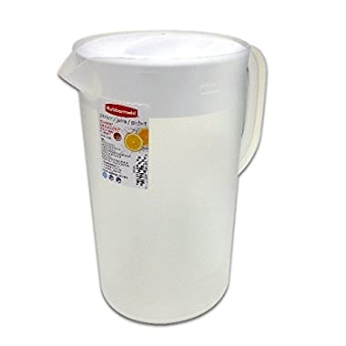 Rubbermaid Clear, 1 Gallon Classic Pitcher With White lid