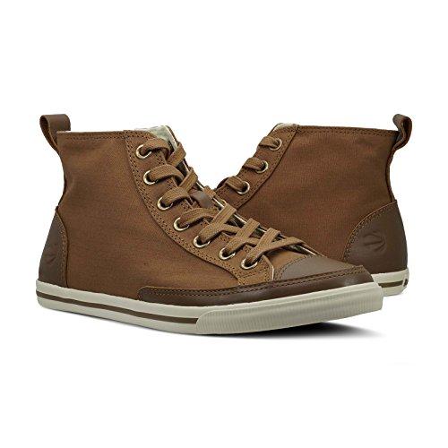 Burnetie Men's Light Brown Solid Plaid High Top Vintage Sneaker 12 M US