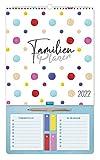 Trötsch Familienkalender Familienplaner mit Stift 2022: Wandkalender mit Notizblock und Klebezettel