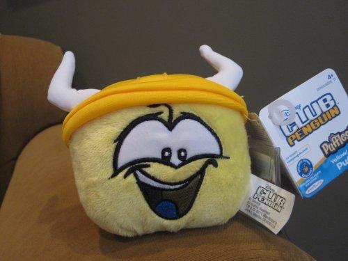 Disney Club Penguin 4' Yellow Pet Puffle with Viking Hat