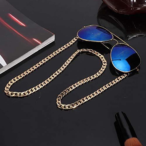 Cadena para gafas de lectura Cadena de gafas de aleación espesada Estilo Hip Hop, para viajes y uso diario