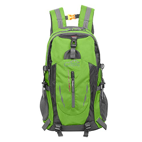 DOLMER 35L Outdoor Sports Travel Water Repellent Nylon Backpack Apple Green Backpacks for Backpacking, Hiking, Camping