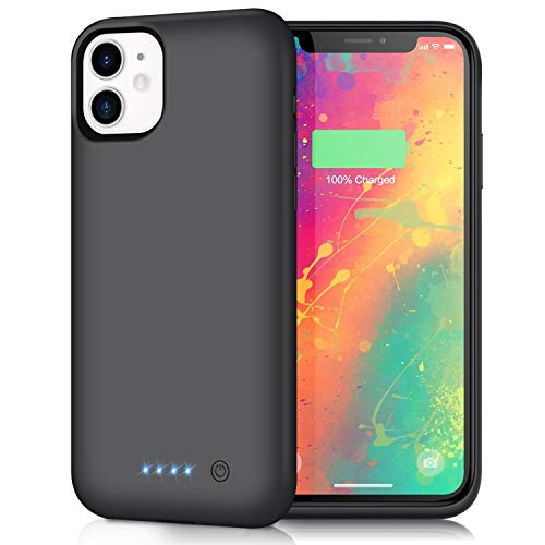 AONIMI Battery Case for iPhone 11, Newest [6800mAh] Portable Charging Case Rechargeable External Battery Pack Protective Extended Battery Backup Charger Case for iPhone 11 (6.1 inch)