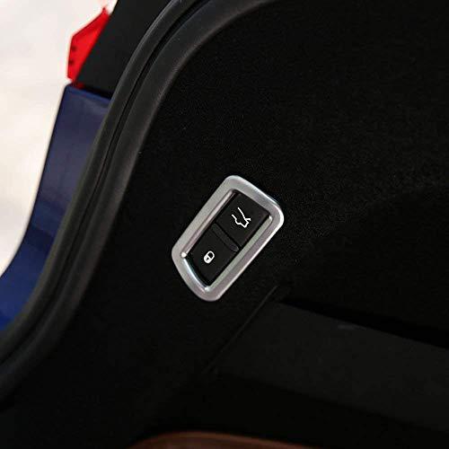 Voiture ABS en Plastique arrière Queue commutateur Bouton Cadre Couverture Garniture Autocollant pour Levante 2016 2017 2018 Argent Mat