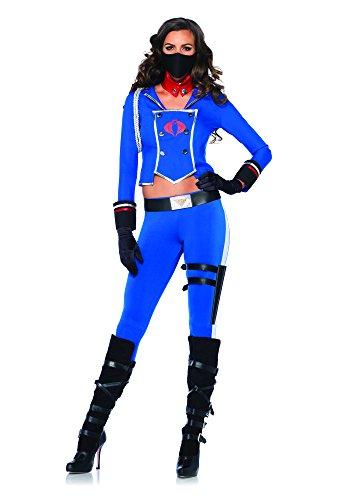 Leg Avenue Women's GI Joe 6 Piece Cobra Girl Costume, Blue, Small