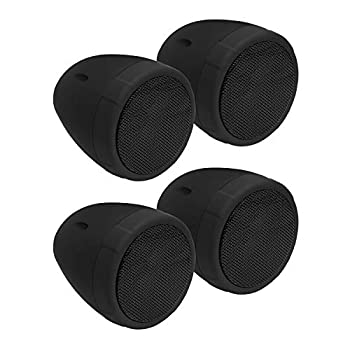 BOSS Audio Systems MCBK475BA Motorcycle Speaker Sound System - Bluetooth Amplified Weatherproof 3 Inch Speakers Volume Control Also Use with ATVs and UTVs