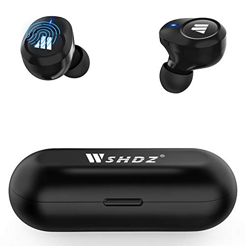 WSHDZ True Wireless Earbuds Bluetooth 5.1 Headphones S11 Smart Touch Control TWS Stereo Earphone IPX6 Waterproof in Ear Built in Mic Headset for iPhone and Android with Deep Bass for Sports/Gym