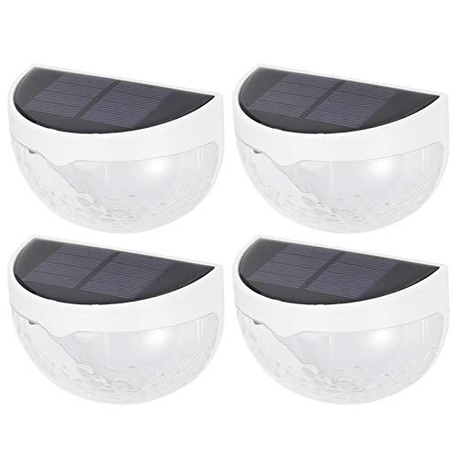Omabeta 4 unids 6LED ABS y PC blanco Shell impermeable semicírculo cerca lámpara de energía solar lámpara para proporcionar luz