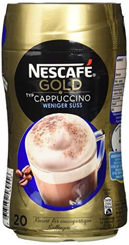 NESCAFÉ Gold Typ Cappuccino Weniger Süß, löslicher Bohnenkaffee aus erlesenen Kaffeebohnen, koffeinhaltig, mit extra viel Schaum (1 x 250 g)