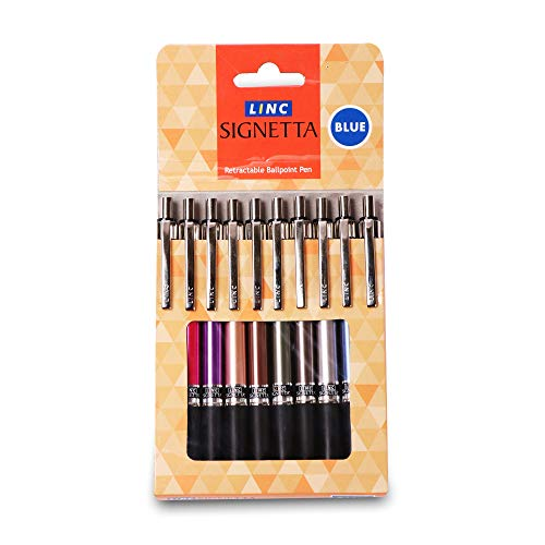 Linc Signetta Ball Pen, Blue, 10 pcs