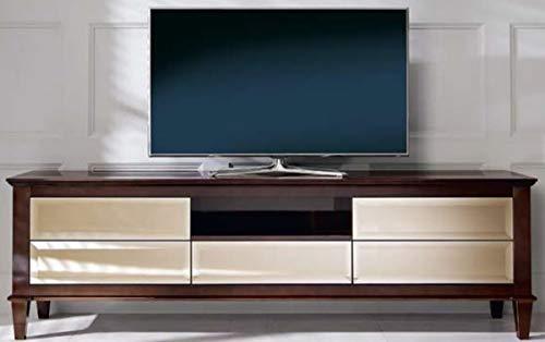 Casa Padrino gabinete de la TV neoclásico marrón 200 x 45 x A. 61 cm - Mueble TV con 5 cajones espejados - Muebles de Salón