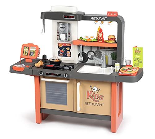 Smoby Infantil Kids Restaurant con Tres Zonas diferenciadas, INlcuye 73 accesoruios, Color (312304)