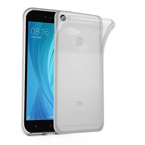 Cadorabo Hülle für Xiaomi RedMi Note 5A Prime in VOLL TRANSPARENT - Handyhülle aus flexiblem TPU Silikon - Silikonhülle Schutzhülle Ultra Slim Soft Back Cover Hülle Bumper