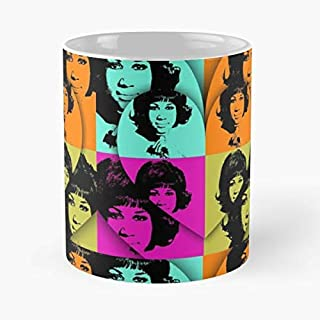 Aretha Franklin Hollywood Music - Best Birthday And Holiday Gifts For Dad, Father Cup, White 11 Oz.