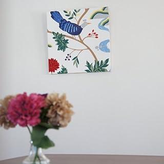 ファブリックアートパネル ボラスコットン/boras cotton BIRDLAND【L】/WHITE 500×500mm