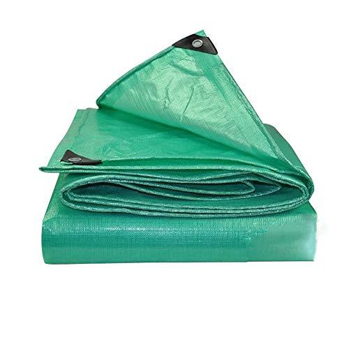 Bâche 200g / m² - Bâche imperméable extérieure en plastique pour jardinage, camping, qualité supérieure, protection externe (Couleur : Green, taille : 5MX6M)