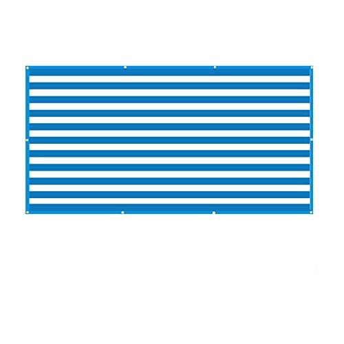Wang Bloc UV de Tissu d'ombre de Sun de Rectangle pour Le Jardin extérieur de Patio (Taille DE Custom Disponible) Plusieurs Tailles (Couleur : Blue, Taille : 6×2M)