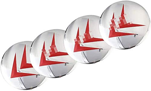 LHSEX Coche 4Pcs 65mm, Tapas de Cubo de Rueda Emblema 3D Tapas de Centro de Cubo de Aluminio con Pegatinas de Logotipo Accesorios de Coche, para Citroen C4 C5 C6 C8 C2 C3 C-Elysee AX DS