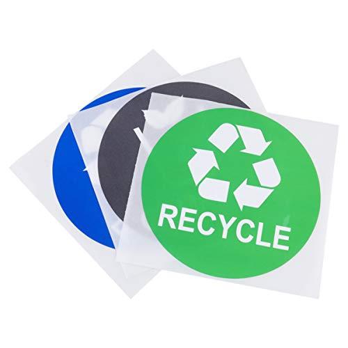 GARNECK 12 Piezas Conjunto de Pegatinas de Compost de Reciclaje Papelera Papelera de Reciclaje Calcomanía Etiqueta de Basura Papelera Etiquetas Autoadhesivas para Oficina Hogar Cocina