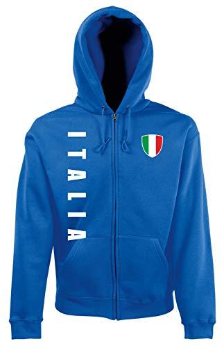 Aprom-Sports Italien ZIP Hoodie Jacke -Kapuzen Sweat Sport Trikot ROY Look (XL)