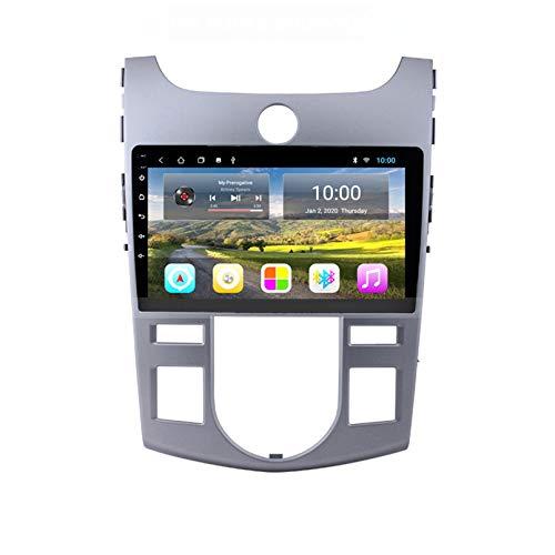 Autoradio-Navigationsradio FM AM Touchscreen GPS Navigator-Unterstützung Lenkradsteuerung Bluetooth WIFI-Player Unterstützung GPS USB SD Geeignet Für Kia FO(Size:1G+16G,Color:Automatische Klimaanlage)