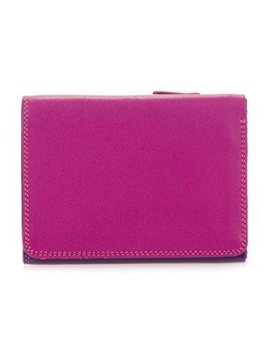 Portafoglio donna in pelle - MYWALIT - Small Tri-fold Wallet - 106-75 - Sangria multi