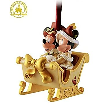 Disney Victorian Minnie and Mickey Mouse Sleigh Christmas Ornament - Disney Theme Parks Exclusive & Limited Availability
