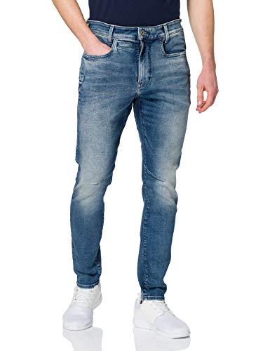 G-STAR RAW Mens D-STAQ 3D Slim Jeans, Faded Clear Sky C051-C283, 32W / 30L