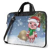 コンピューターバッグ 保護ケース 片方の肩の耐震性 クリスマスピッグ Pcスリーブ 多機能 大容量 スリーブバッグ パッケージ 収納バッグ ポータブル 衝撃吸収 軽量(13インチ / 14インチ / 15.6インチ)