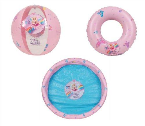 CAGO Barbie Planschbecken Set 3-teilig, Becken, Ring und Ball