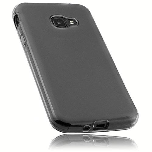 mumbi Hülle kompatibel mit Samsung Galaxy Xcover 4 / 4s Handy Hülle Handyhülle, transparent schwarz
