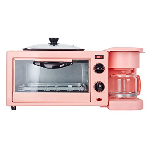 AjAC 3-in-1 ontbijtmachine, elektrisch, multifunctioneel, niet – pizza, broodrooster, ontbijtmaker, oven