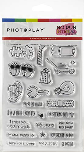 Photoplay Paper PhotoPlay Photopolymer Stamp-So Punny, No Pun Intended, Multi