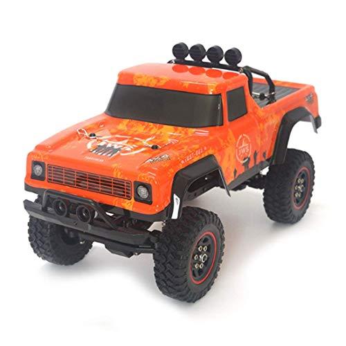 ZHANGYY 1/18 2.4G RC RC Car Crawler Modelo de vehículo de Escalada Camiones de Alta Velocidad Camiones Todoterreno Juguetes Naranja