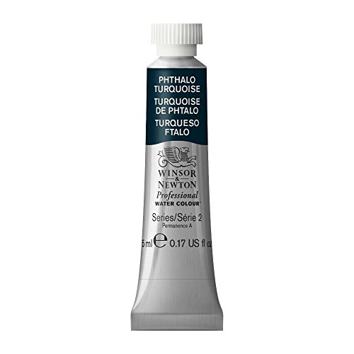 Winsor & Newton Professional Water Colour Paint, 5ml tube, Phthalo Turquoise