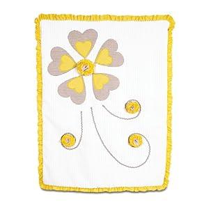 Pavilion Gift Company Ribbed Chenille Baby Blanket, Sunshine, 30″ x 40″