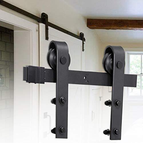 Schiebetür, rechteckig, 200 cm, ausgestattet mit komplettem Zubehör, Schiebetürsystem, Holztür erhältlich,beschlaege schiebetuere