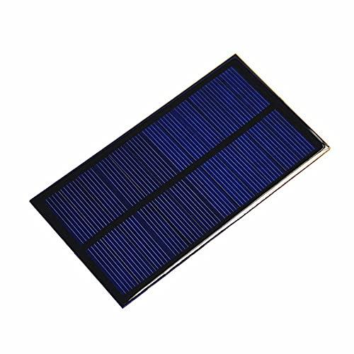 RUMUI Module électronique de bricolage de panneau solaire polycristallin 1W 6V pour le chargeur de cellules de batterie