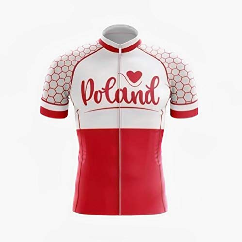 Factory8 - Country Jerseys - Love Your Country! Cycling Jerseys & Sets Collection - Team Poland 'Love Poland' Mens Cycling Jersey & Short Set - Cycling Jersey - L