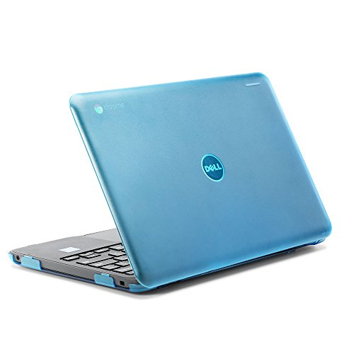 """iPearl mCover Hard Shell Case for 2017 11.6"""" Dell Chromebook 11 3180 Series Laptop (NOT Compatible with 210-ACDU / 3120/3189 Series) (Aqua)"""
