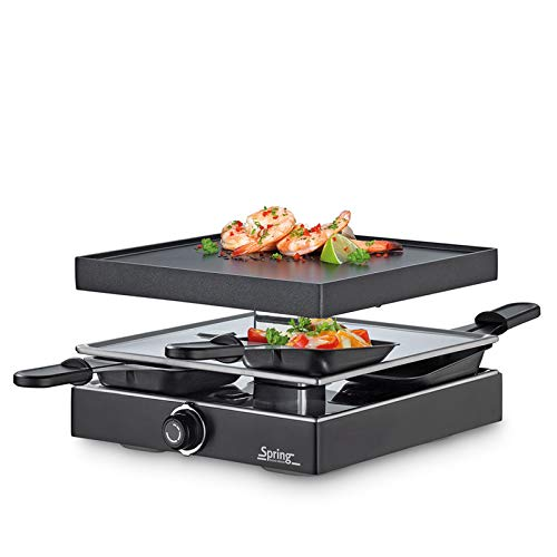 Spring Raclette mit Alugrillplatte-KP3267297001 Raclette mit Alugrillplatte schwarz one size