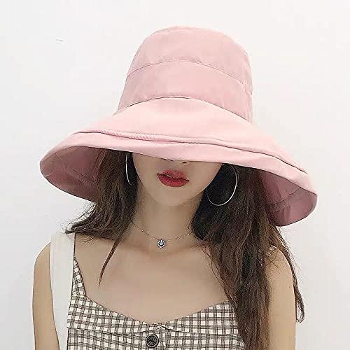 GEEKCOOK Cappello Donna,La Signora Fisherman Hat Estate Centinaia di Cappelli di ombreggiatura cospargere-Polvere pallida