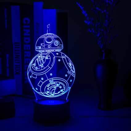 Gepersonaliseerde jongens nachtlampje voor kinderen/baby - kerstcadeaus voor kinderen - 7 kleuren en een kleurveranderende instelling creatieve staande nachtlampje