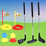 Shhjjyp Kids Golf Clubs Set Juguetes Deportivos Portátiles para Palos De Golf para Interiores Y Exteriores