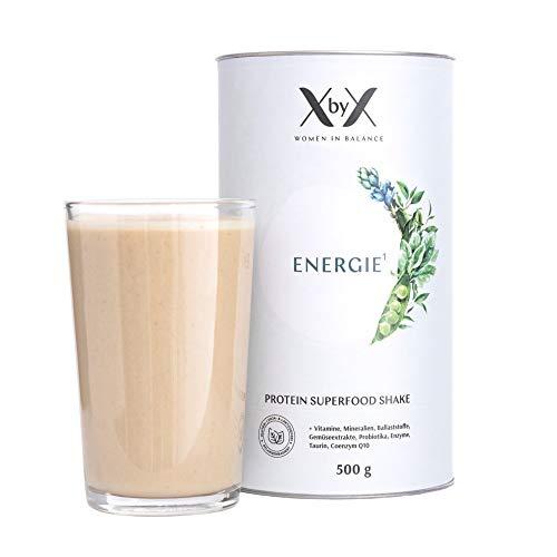 XbyX Energie Protein Superfood Pulver für Wechseljahre und Hormon Balance, Vegan, Sojafrei, Zuckerfrei, 500 g
