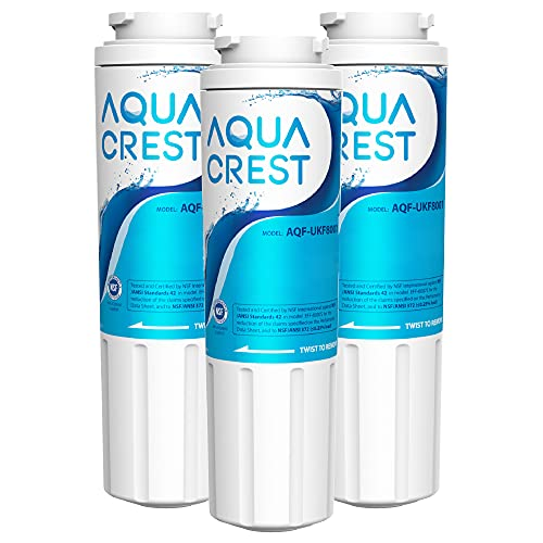 AQUACREST UKF8001 Refrigerator Water Filter, Replacement for EveryDrop Filter 4, Maytag UKF8001P, Whirlpool UKF8001AXX-750, 4396395, EDR4RXD1, PUR, Puriclean II (Pack of 3, package may vary)