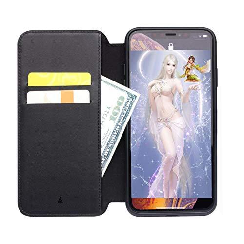 Volledige koeienhuid mobiele telefoon bescherming Holsters. All-inclusive, magnetische sluiting, portemonnee, creditcardsleuf mobiele telefoon lederen hoesje voor iPhone XR 6.1